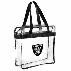Oakland Raiders CLEAR Messenger Tote Bag Purse - Meets Stadium Security Reqs