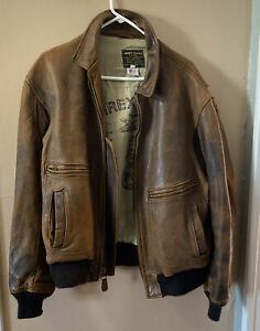 VTG Avirex Leather Type G-2 US Army Air Force Flight Bomber Jacket 1985 42