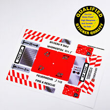 CUSTOM sticker for LEGO 8289 Fire Truck Technic, Premium quality