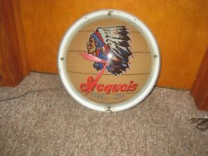 Double Bubble Iroquois Beer Clock missing top Glass Face