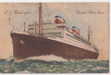 United States Lines S.S. Washington 1939 Sea Post Postcard, B606