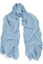 Chan Luu Cashmere & Silk Scarf Wrap Solid Beautiful BLUE BRH-SC-140 RARE!