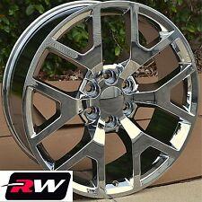 """(4) 20"""" inch RW Wheels for 2014 GMC Sierra 5656 5658 Chrome 20x9 Rims & Lug Nuts"""