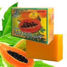 HERBAL SOAP PAPAYA EXTRACT NATURAL INGREDIENTS REDUCE WRINKLES , BLACKHEAD 70 G.
