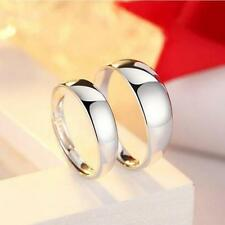Shining Couple Rings Silver Plated Adjustable Her and His Promise Band