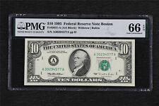 1995 Federal Reserve Note Boston 10 Dollars Fr#2031-A PMG 66 EPQ Gem UNC