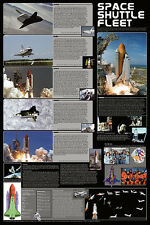 Space Shuttle Fleet Laminated Educational Space Chart Poster 24x36