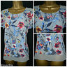 NEW PER UNA LADIES TOP TUNIC GREY BLUE PINK FLORAL SUMMER HOLIDAY SIZE 8 - 24