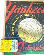 1964 autographed world series program/game used WS ticket and original 1956 base