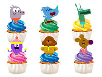 12 STAND UP HEY DUGGEE EDIBLE BIRTHDAY PARTY CUPCAKES CUP CAKE IMAGES TOPPERS