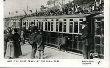 Pamlin repro photo postcard M892 First Train at Chesham Buckinghamshire 1889