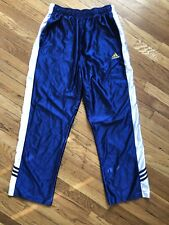 Vintage 2001 Adidas Mens Blue White  Basketball Warm Up Track Pants Size SM
