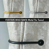 Large Stylish Curtain Hold Back Metal Tie Tassel Arm U Shaped Hook Loop Holder