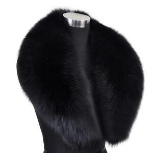Warm echte Farm Fox Pelzkragen Wrap Schal neuesten Schal schwarz breit