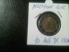 Pieces de monnaies de 2 Euros Commémorative Année 2012 allemande TTB
