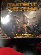 Mutant Chronicles Collectible Miniatures Game Starter Set + COLEM OF ICE FIGURE