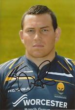 WORCESTER WARRIORS RUGBY UNION * ED SHERVINGTON SIGNED 6x4 PORTRAIT PHOTO+COA