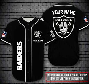 Personalized Las Vegas Raiders Fanmade Baseball Jersey