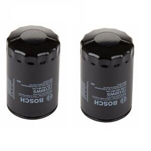 For Audi 100 Volkswagen Cabrio Set of 2 Engine Oil Filters Bosch Workshop NEW
