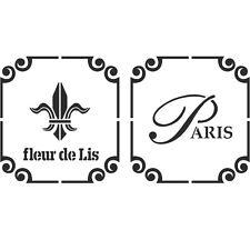 Fleur de lis Paris stencil Reusable Template for Crafts Wall decor Canvas