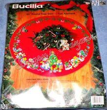 "Bucilla CHRISTMAS TEDDY BEARS Felt Applique Tree Skirt Kit -43""-Tree,Toys- 83136"