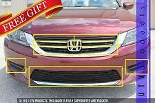 GTG 2013 - 2015 Honda Accord 4dr 10PC Gloss Black Combo Billet Grille Grille Kit