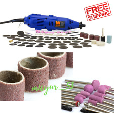 100 PIECE Accessories Dremel Set Variable Speed Rotary Cutter Tool Kit Grinder