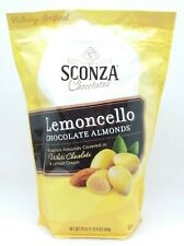 1 BAG Sconza Chocolates LEMONCELLO CHOCOLATE ALMONDS White Lemon Cream 24 oz