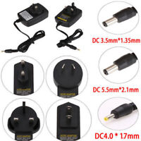 5V 9V 12V 1A 2A AC DC 3.5mm*1.35mm 5.5mm*2.5mm Power Supply Adapter Connector