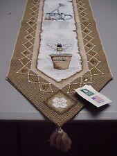 "USA Made NWT Garden Terrace 13"" x 72"" Tapestry Table Runner #103"