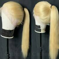 9A 100% Real Virgin Peruvian Human Hair Wig 360 Lace Front Wig Blonde Straight J
