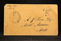 Massachusetts: Marblehead 1850s Stampless Cover, PAID 3 in 2 Lines, Essex Co