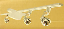 HALO 3 Head Gumbal Ring Track Spot Halogen Light Fixture Low Votage White LV803P