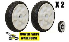 "(2) NEW REPLACEMENT TORO 8 INCH REAR WHEELS DRIVE WHEELS 22"" RECYCLER 115-4695"