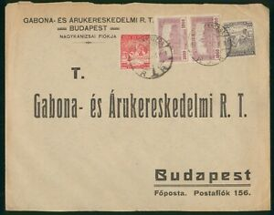 Mayfairstamps Hungary 1920s to Budapest Multifranked cover wwo1593