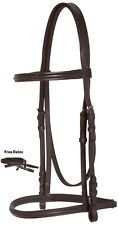 AP ENGLISH EVENTING BROWN LEATHER JUMPING HORSE BRIDLE REINS TACK SET