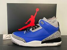 Nike Air Jordan Retro 3 Varsity Royal Blue Cement CT8532-400 Men Size 8-13