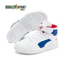Puma Rebound Layup Bianco Scarpe Shoes Bambino Sportive Sneakers 370488 05