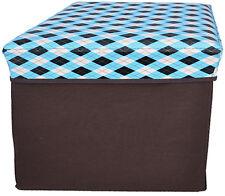 Cute Retro Blue 50s Stoffbox / Kiste Hocker