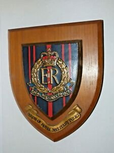 CORPS OF ROYAL MILITARY POLICE PLAQUE