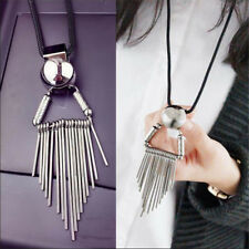 Geometric Pendant Exaggerated Sweater Necklace Personality Women Long Chain