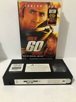Gone In 60 Seconds VHS Video Tape -Big Box- Fast & Free Aus Shipping Ex Rental