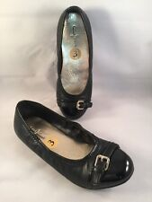 Cole Haan Christina Ballet Flats in Black Patent Leather Mix size 3 Youth New