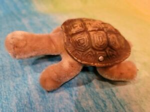 Vintage STEIFF TURTLE SLO Button ID Button & Slo Tag Mohair Rubber Germany 1960s