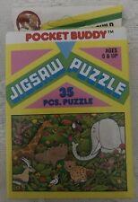 """Puzzle-Pocket Buddy 35-Piece 5"""" x 7"""" Jigsaw Puzzle - Zoo Animals ***NEW***."""