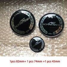 3pcs AC SCHNITZER Car Front Hood Emblem Rear Emblem Steering Car Badge for BMW