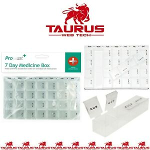 Medicine Pill Box Organiser Daily Weekly Tablet Storage 7 Days Dispenser Week UK