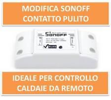 Sonoff r2 modificato contatto pulito x controllo remoto caldaia, apriporta