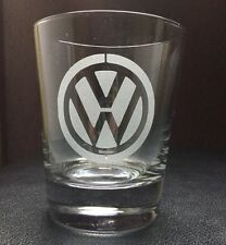 Personalised Etched Sandblasted Whiskey Volkswagen Car Logo Custom Gifts