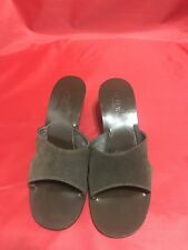 J Crew Women's Brown Suede Leather Sandal Size 9H Made In Italy